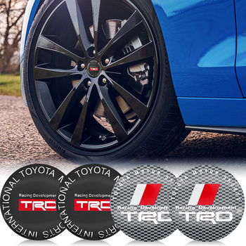4psc 56mm auto parts wheel center cover TRD logo sticker for Toyota CHR Camry Prado Yaris Crown Hilux Rav4 Avensis Prius Corolla наклейки digiface toyota corolla hilux vitz rav4 camry prius 2 3 4