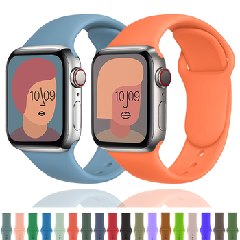 breathable strap for apple watch band 38 42mm iwatch 4 band 44 40mm sports silicone belt bracelet correa apple watch 5 4 3 2 1 Silicone Strap For Apple Watch band 44mm 40mm Rubber Sport bracelet correa apple watch series 6 se 5 4 3 2 iWatch band 42mm 38mm