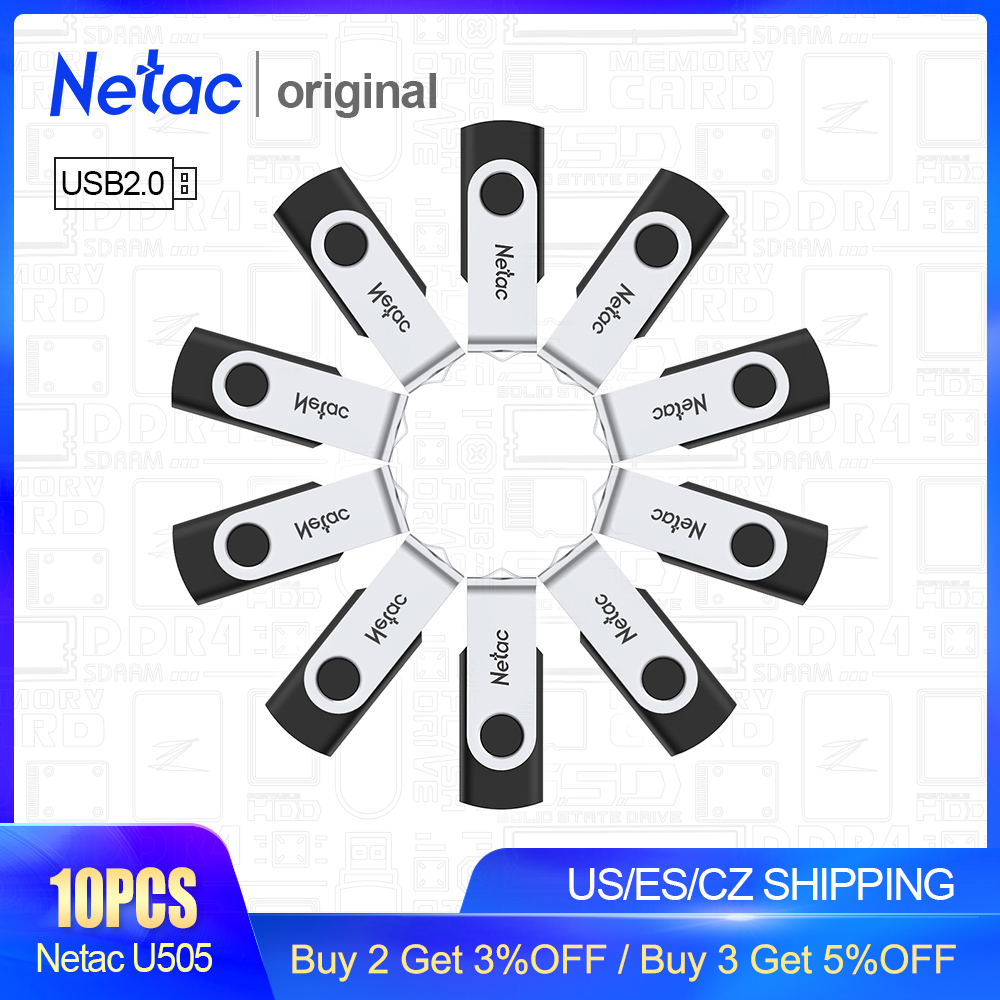Netac USB 2.0 Metal USB Flash Drive 16GB 8GB Pendrive Flash Memory Stick Waterproof Pen Drive USB Stick Gift For Computer