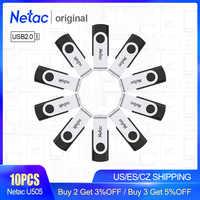 Netac USB 2,0 металлический USB флеш-накопитель 16 ГБ 8 ГБ флеш-накопитель флеш-память палка водонепроницаемый флеш-накопитель USB палка подарок для к...