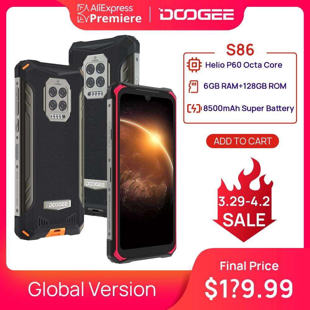 DOOGEE S86 смартфон прочный смартфон 6 ГБ + 128 Гб 8500 мАч супер Батарея IP68/IP69K мобильный телефон HelioP60 Восьмиядерный мобильный телефон Смартфоны      АлиЭкспресс