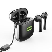WK60 auriculares inalámbricos con Bluetooth 5,0, dispositivo TWS con cancelación de ruido y pantalla Digital, Auriculares deportivos con micrófono