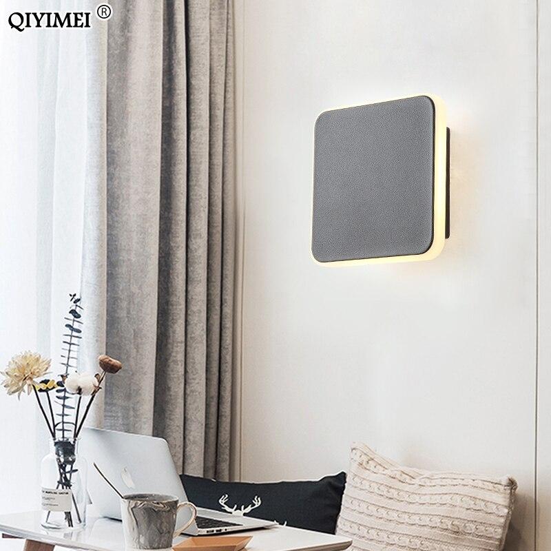 Круглый квадратный современный светодиодный настенный светильник