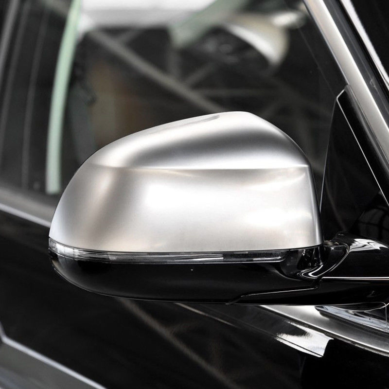 For <font><b>BMW</b></font> <font><b>X3</b></font> <font><b>G01</b></font> <font><b>2018</b></font> 2019 Chrome matte/gray Car Side Wing Rearview Rear View Mirror Caps Case Shell Replacement Cover Trim 2pcs image