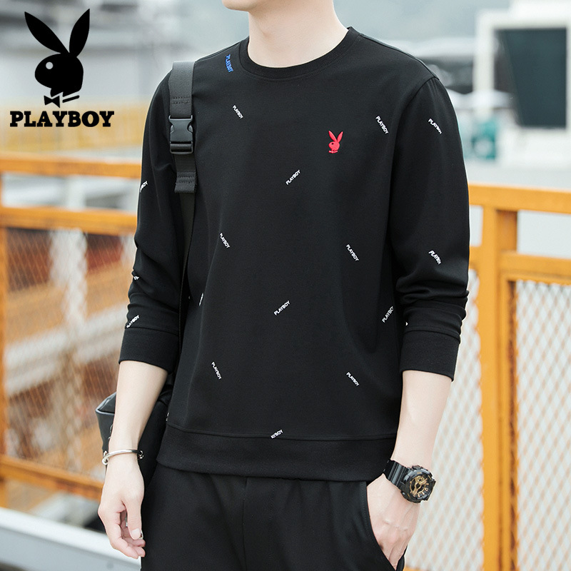 PLAYBOY Men's Long-sleeved T-shirt Spring And Autumn 2019 New Style Clothes Fashion Heattech Men's Hoodie