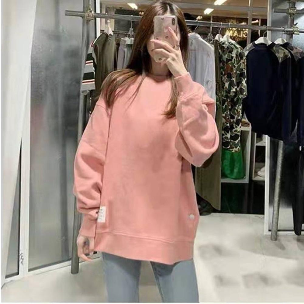Autumn Winter Long Sleeve Women's Unisex Sweatshirt O Neck Pullover Top Plus Velvet Clothes A3