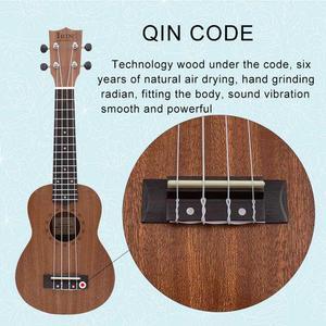 Image 3 - 21 Inch Ukulele Soprano Ukelele Mahogany Wood with Carry Bag Uke Strap Strings Tuner Cloth Finger Maraca Picks