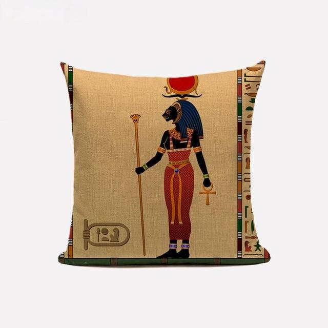 Egyptian Throw Pillow Case  5