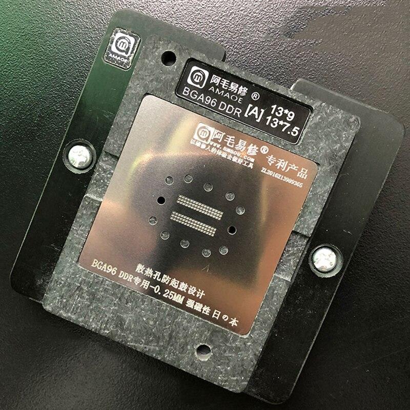 BGA Directly Heat Reballing Universal Stencils With Templateset For BGA96 DDR BGA153 EMMC Chip Rework Rpair