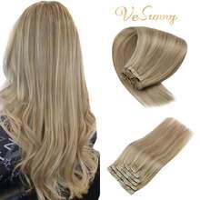 Vesunny двойные волосы на заколках для наращивания настоящие