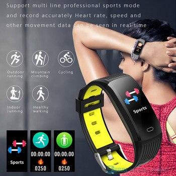 2021 Silicone Bracelet Smartwatch Men Women Smart Watch Fitness Tracker For Android iOS Smart Clock Sport Waterproof Smart-Watch 5