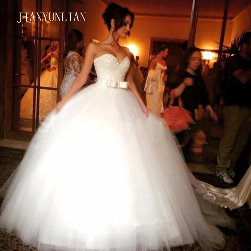 2020 New Prom Gown Sweetheart Sleeveless White Ivory Tulle Bridal Wedding Dress Bride Gown Plus Siz