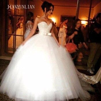 ¡Novedad de 2020! Vestido de graduación Sweetheart sin mangas de tul blanco marfil, vestido de novia, vestido de novia Plus Siz