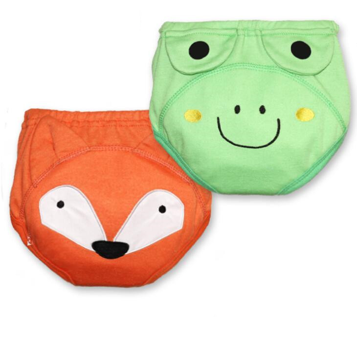 4 Layers Kid Underwear Baby Training Pants Child Study Pants Nappy Cover Thickening For Winter Stereoscopic Cartoon Style ZY04