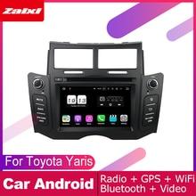 ZaiXi android car dvd gps multimedia player For Toyota Yaris 2005~2011 car dvd navigation radio video audio player Navi Map