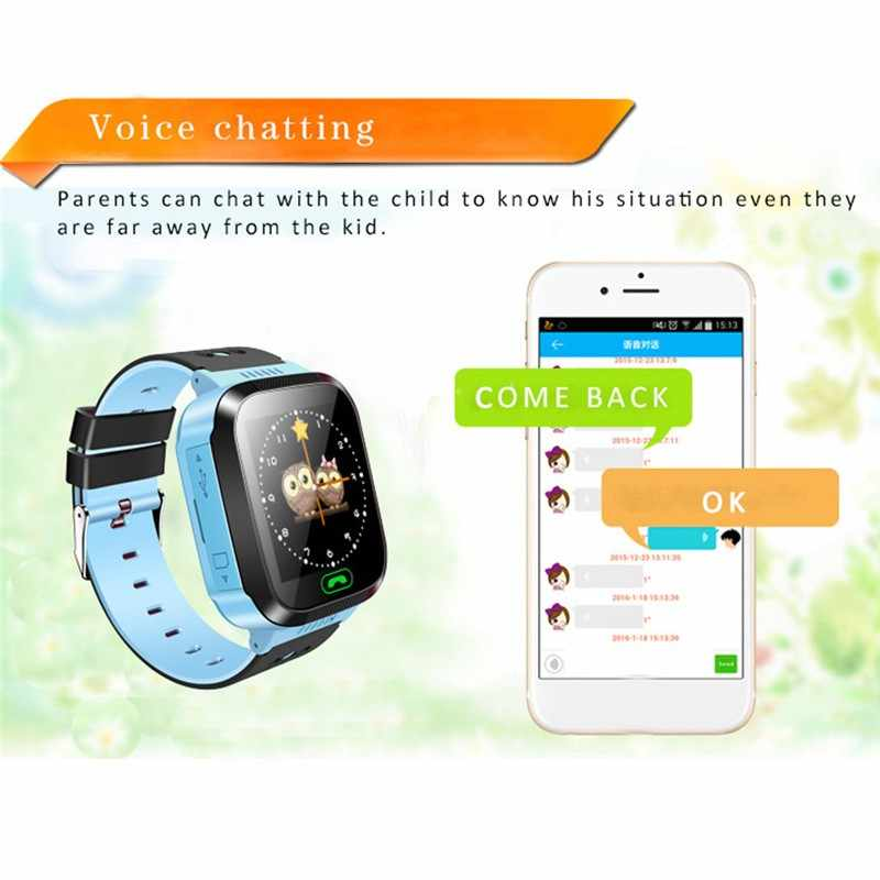 Desinfiziert sicher kinder Smart Uhr Baby LBS Positioning Sicherheit Anti-verloren Anruf Telefon kinder SOS Touch Screen Remote tracker