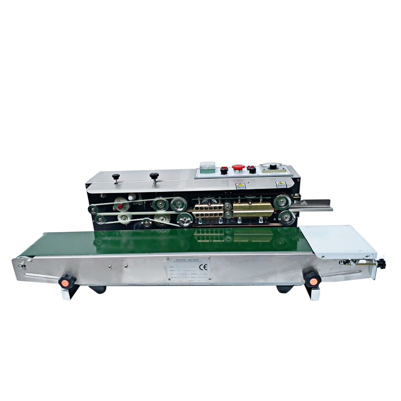 Newest FR-1000 Solid Ink Printing Sealing Machine continuous Band Sealer With Date Printer