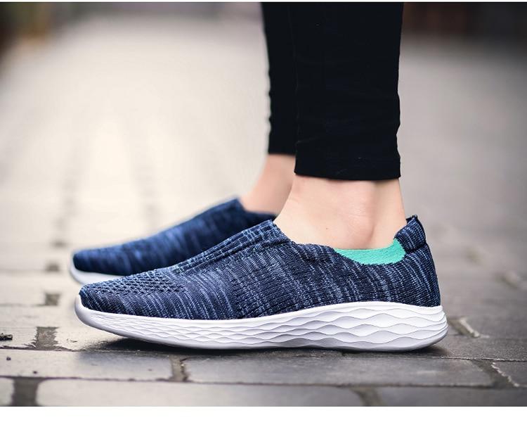 SOLI2 été chaussures décontractées respirant femmes hommes baskets sans lacet mocassins pas cher chaussures plates dames chaussures S1476-1500 - 2