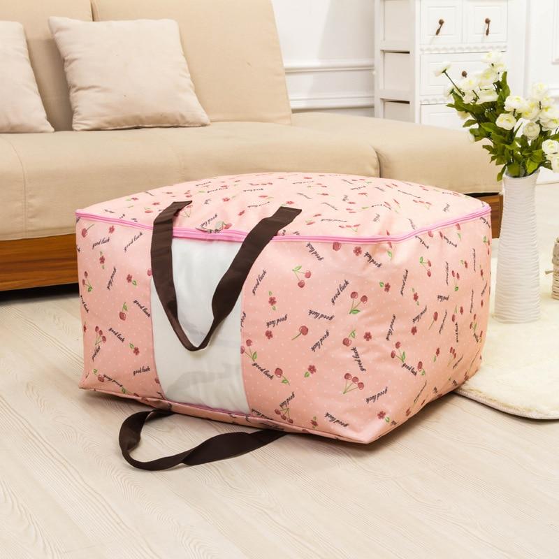 Высокое качество ткань Оксфорд водонепроницаемый Paintcoat печатных стеганая коробка для хранения одежды Пылезащитная мягкая сумка для
