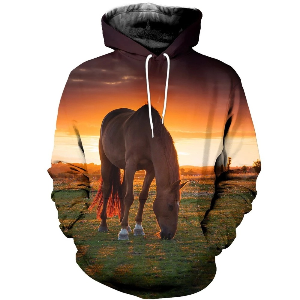 Liumaohua 2020 Fashion Men <font><b>animal</b></font> <font><b>Hoodies</b></font> forest horse Print <font><b>3d</b></font> Sweatshirt / zip Hoodie <font><b>Unisex</b></font> Casual Harajuku Hoody tops image