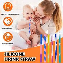 Silicone molar pipeta de palha de silicone do produto comestível da bebida do bebê do agregado familiar fácil de limpar a alta temperatura resistente da palha pipeta