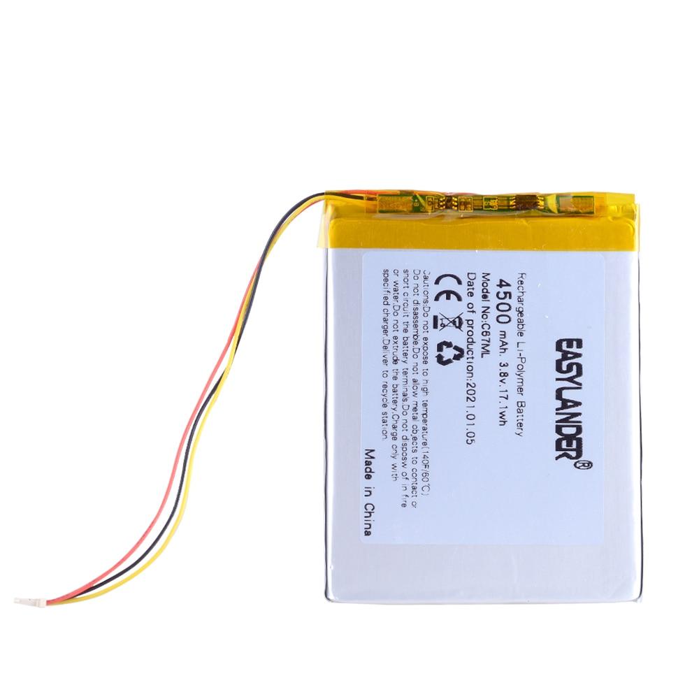 3,8 V 3920mAh литий-ионная аккумуляторная батарея для ONYX BOOX DARWIN 3 4 Цезарь 3 C67LM электронная книга Carta2 C67ML C63ML T76ML T76SML C65ML C65HD T68