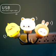 LED Night Light Timing Dimming USB Power Supply With Remote Control Night Lights Children's Christmas Gift Cartoon Bedroom Lamp