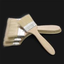 Szczotka do wełny narzędzia do grillowania pędzle malarskie z drewnianym uchwytem do ściany i farba do mebli wklej pędzel z drewnianym uchwytem narzędzie do reballingu tanie tanio supple Basting szczotki Łatwo czyszczone Spawane Odporność na ciepło Non-stick Drewna Nie powlekany B0069