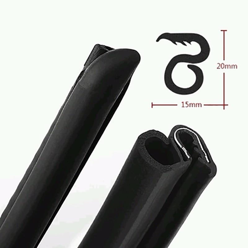 2pcs Car Accessories 80Cm B Pillar Type Car Rubber Seal Strip Anti-Noise Auto Rubber Seals Dustproof Sealing Strips Car Styling