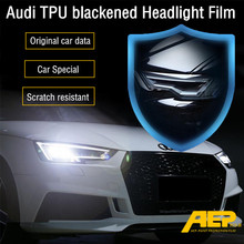 цена на AEP TPU Car Transparent Blackened Headlight Protective Film Sticker For Audi A3 A5 Q5 Q3 A6L Q7 A4L Q5L Anti-scratch Sticker