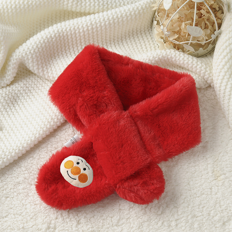 2018 Autumn And Winter New Style Versatile Cartoon Bread People Imitation Rabbit Fur Autumn And Winter CHILDREN'S Scarf Warm Thi
