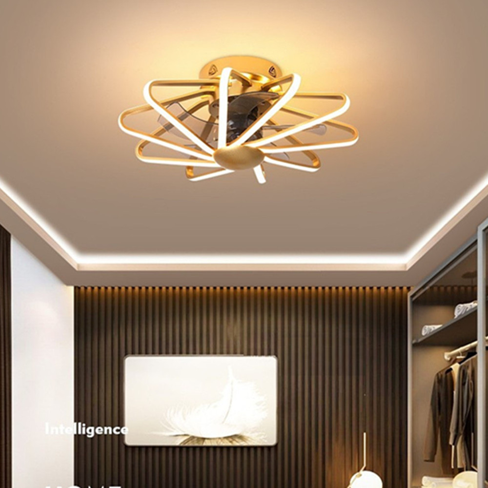 Painstaking Ac 220v Led Ceiling Ventilator Lamp Fan Light Bedroom Living Room Lamps Integrated Fans Pure Copper Motor With Remote Contorl
