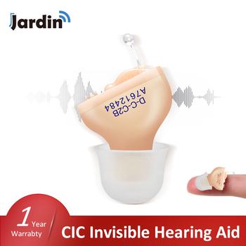 CIC Invisible JCT1 aparaty słuchowe najlepsze aparaty słuchowe Mini wewnątrz wzmacniacz dźwięku do ucha dla głuchota wzmacniacz słuchu Dropship tanie i dobre opinie jardin Chin kontynentalnych T1 Hearing Aids Invisible Hearing Aids CIC Hearing Aids 27 6dB Sound Amplifier Less 80db 30db