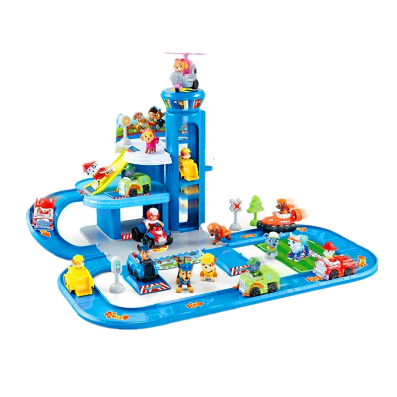 Paw Patrol Toys  Figures Track Car Paw Patrol Toys Set Model Patrulla Canina Juguetes Anime Action Figures  Kids Birthday  Toy