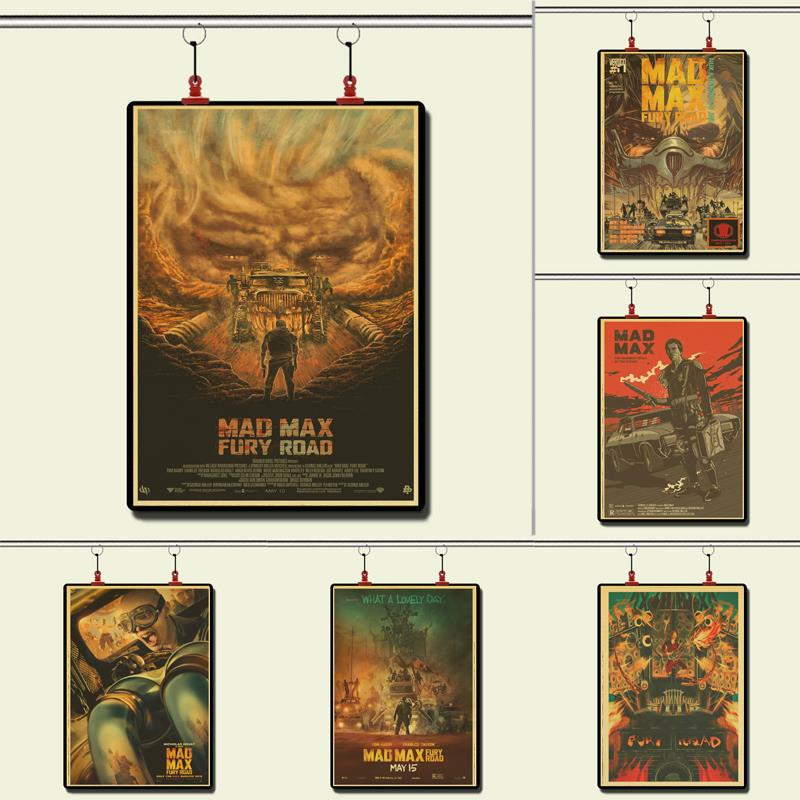 Thriller movie Mad Max 4 Vintage Paper Poster Wall Painting Home Decoration 42X30 CM 30X21 CM image