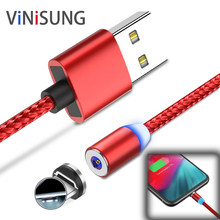 Magnetic Micro USB Cable Fast Charging mobile phone cables Charger Cable Type C Cable Magnet for iPhone to USB Charging wire(China)