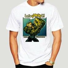 T-shirt manches courtes homme, en coton, Vintage, jeu de grenouille rétro