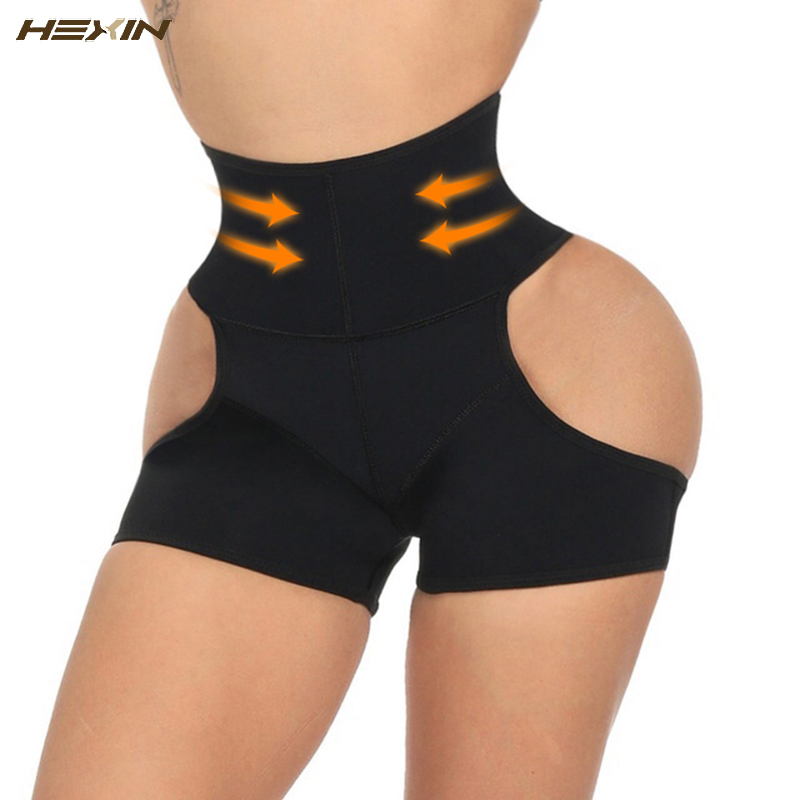 HEXIN Latex Waist Trainer Control Panties Women Sexy Butt Lifter Shaper Tummy Control Pulling Underwear Butt Lifter Panty