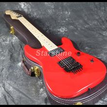 2019 Hot Sell Reverse Standard Electric Guitar Z-WS5 FR Bridge Red Color Maple Neck