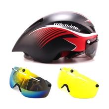New 290g Aero TT road bike helmet goggles racing riding safety TT helme