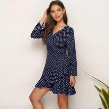 2021 mrmt nova marca feminina vestido de pontos sexy vestidos flounded hem lado vestidos femininos roupas femininas vestido irregular para o sexo feminino