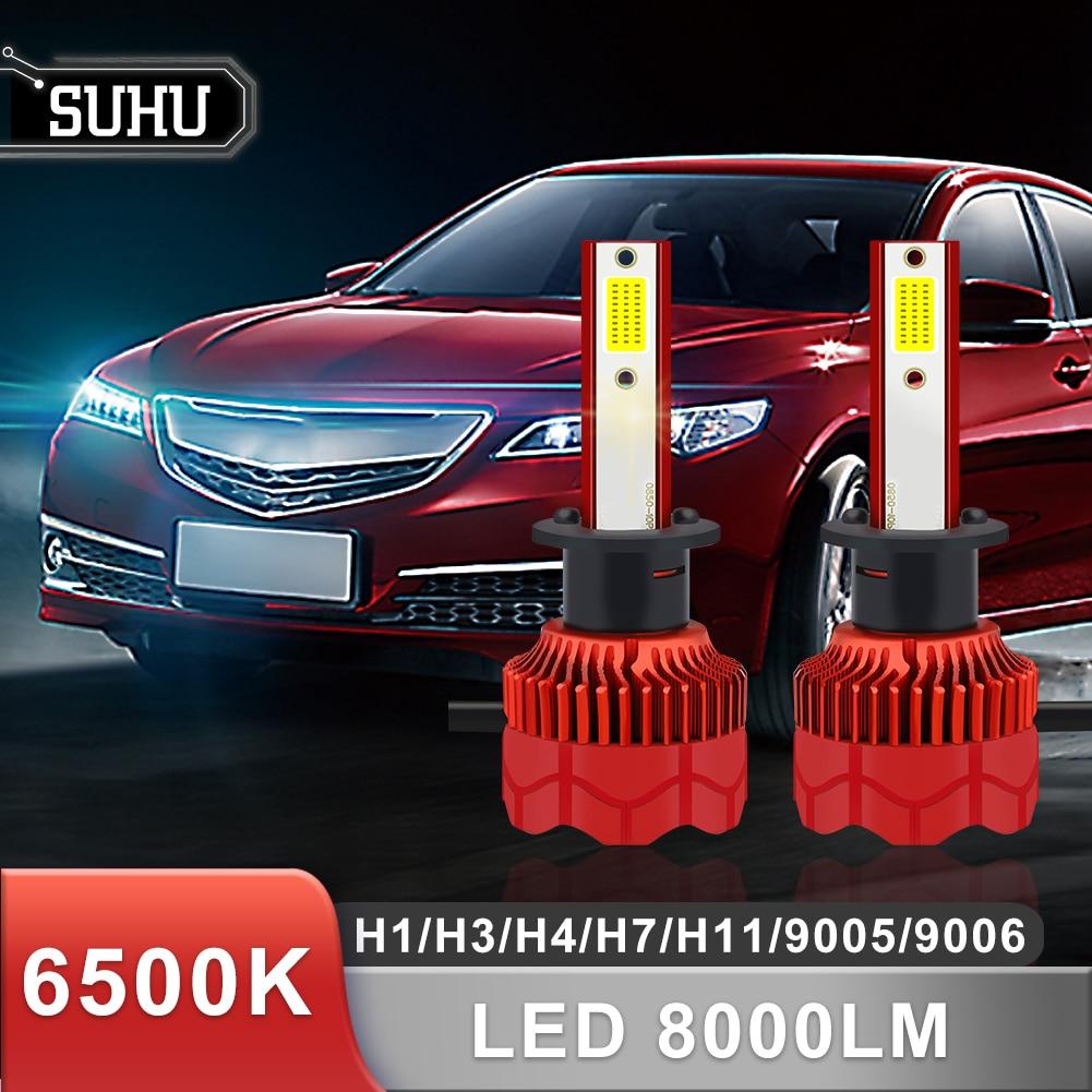 SUHU 2Pcs LED Scheinwerfer Glühbirnen Led-leuchten Auto Scheinwerfer Kit H1 H3 H4 H7 H11 9005 9006 IP68 8000lm 6500K Auto Scheinwerfer Zubehör