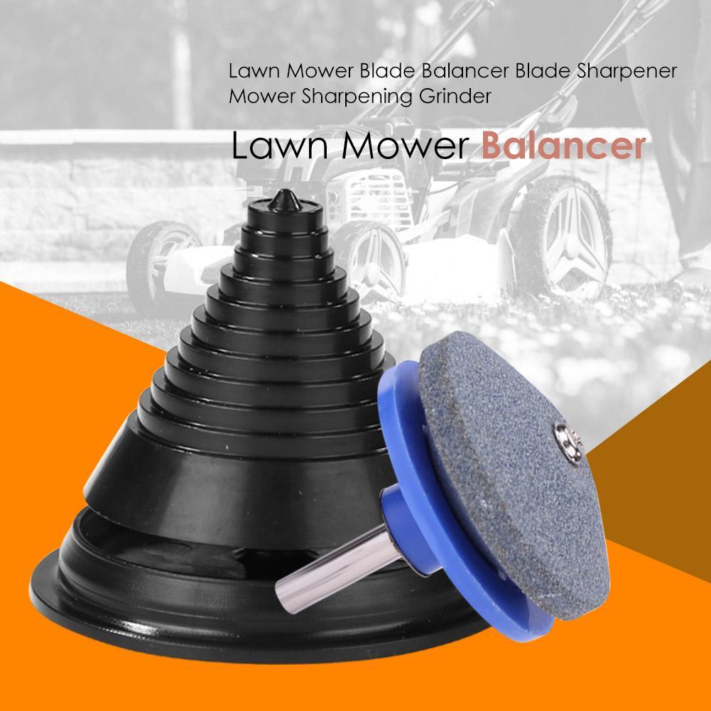 Lawn Mower Blade Balancer Blade Sharpener Practical Blade Balancing Machine Corundum Material Plastics Good Workmanship