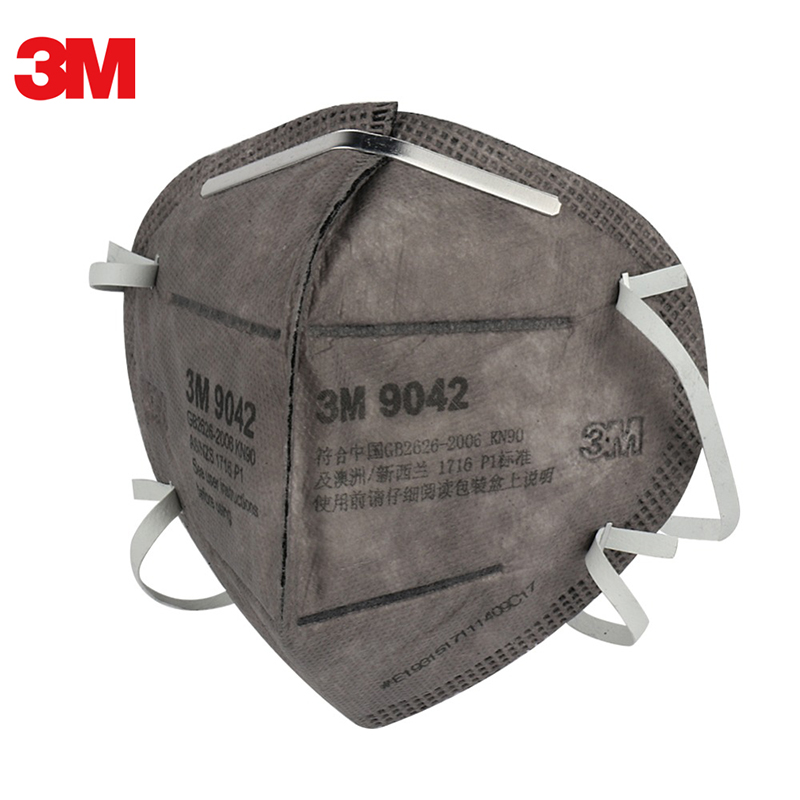 3M 9042 Particulate Respirator Masks Anti Haze PM2.5 Active Carbon Filter Safety Face Mask For Painting Doodling Outdoor