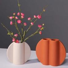 Kolor rośliny ceramiczne uchwyt wazon na kwiaty suszony kwiat układ dekoracja stołu rzemiosło salon meble meble prezenty tanie tanio CN (pochodzenie) Nowoczesne Ceramiki i porcelany Blat wazon KLD-20092807 desk decor ceramic flower vase desk flower vase