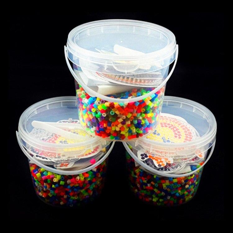 Rompecabezas del juguete de color de 5 mm 24 perlas Perler kit Hama Beads con plantillas de accesorios para los ni/ños hijos handmaking rompecabezas 3D juguetes educativos para los ni/ños de Kinder