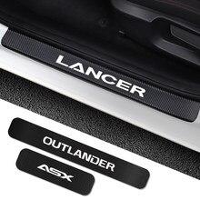 Autocollants de plaque de seuil de porte de voiture, accessoires de réglage pour Mitsubishi Lancer 10 3 9 EX Outlander 3 ASX L200 Ralliart compétition 4 pièces