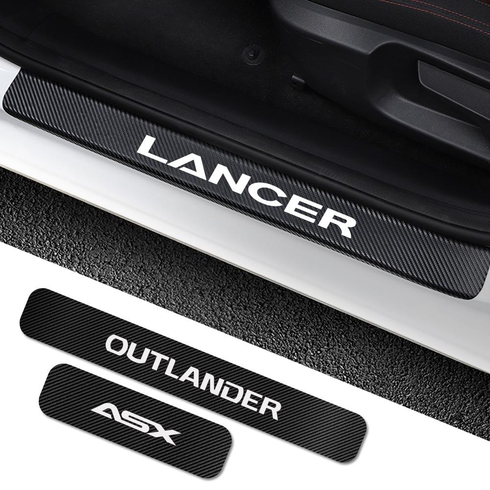 Para Mitsubishi Lancer 10 3 9 EX Outlander 3 ASX L200 Ralliart competición 4 Uds placa del umbral de la puerta del coche accesorios de sintonización Cubierta de la Lente de la luz de lectura de la lámpara de la cúpula trasera del coche de LARBLL MR250712 para Mitsubishi Lancer Outlander EX ASX Pajero V73 v77