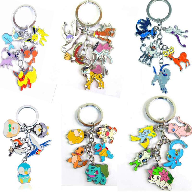 32 style Pokemon Go Tag keychain Pendant key chains Team Valor Mystic Instinct Bead Women Men zinc alloy image