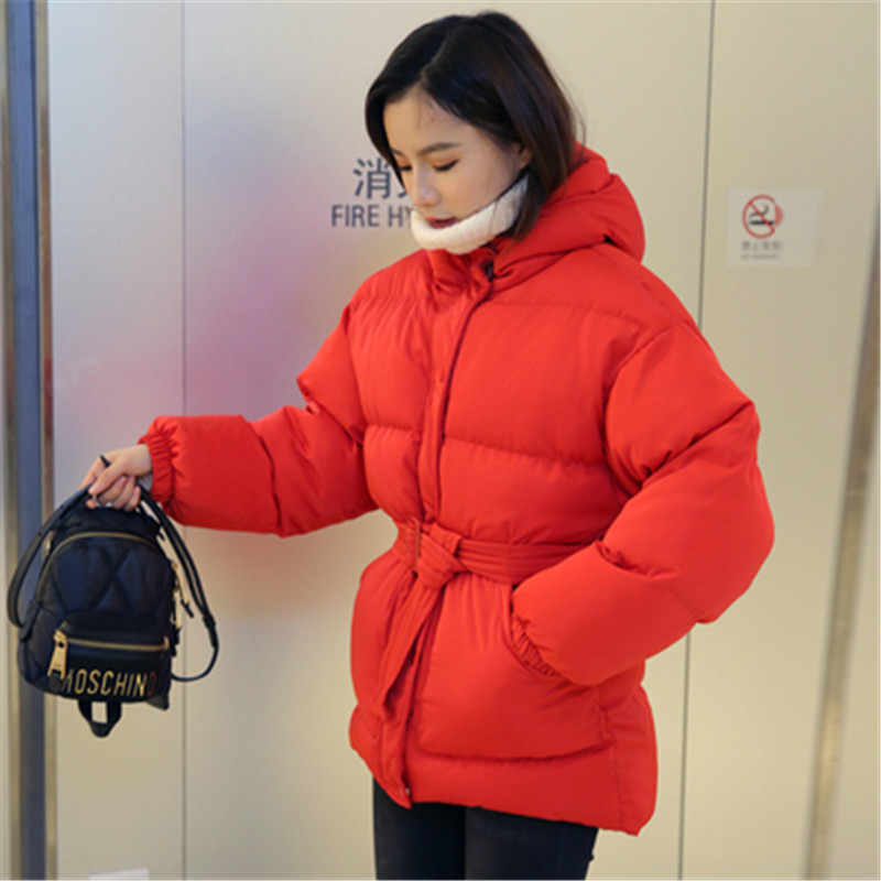 2019 ใหม่ผ้าฝ้ายหลวมฤดูหนาวหนาขนาดใหญ่ผ้าฝ้ายเสื้อผ้า PLUS ขนาดผู้หญิง